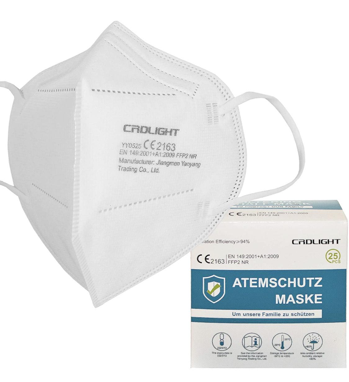 [Amz Marketplace] 100 FFP2 Masken (0,21€/Stück) / 5-lagig / einzeln verpackt