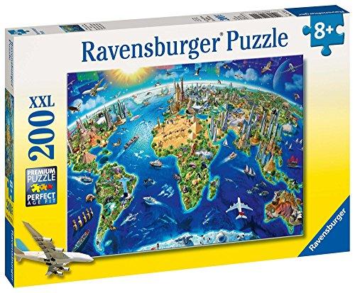 """[amazon PRIME] Ravensburger XXL-Kinderpuzzle 200 Teile """"Große, weite Welt"""" (ab 8 Jahren) zum Bestpreis"""