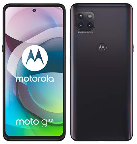 "[Amazon] Motorola Moto G 5G (6,7""-Display, 48-MP-Kamera, 4/64 GB, 5000 mAh, Dual-SIM, Android 10) Schwarz, inkl. Schutzcover + KFZ-Adapter"