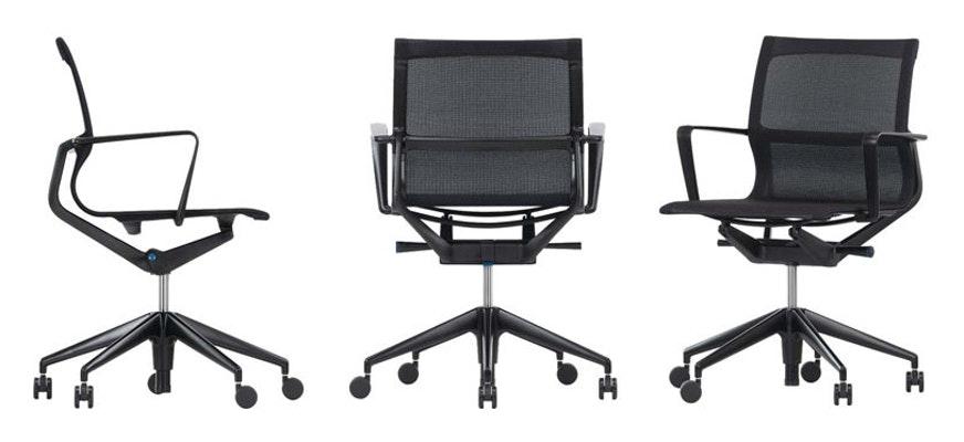 Vitra Physix Bürostuhl (Version mit einstellbarer Rückenlehne und Höhe)