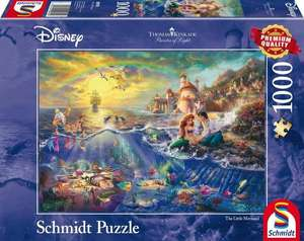 Schmidt-Spiele Puzzle: Disney Kleine Meerjungfrau, Arielle mit 1000 Teilen für 6,52€ (Thalia Kultklub)