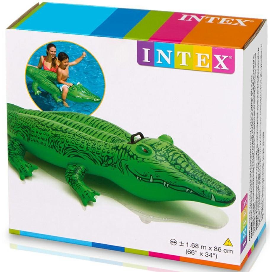 INTEX Krokodil 168 cm × 86 cm aufblasbares Schwimmtier