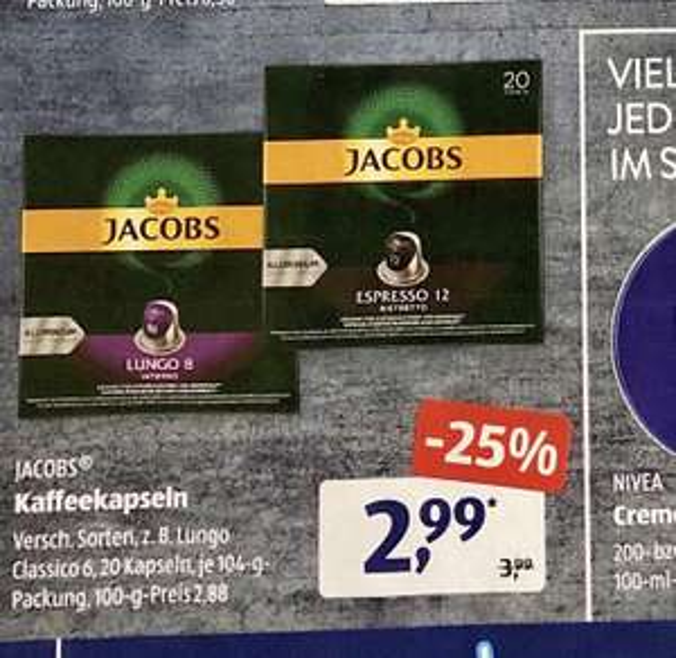 Jacobs Kaffee-Kapseln für Nespresso, lokal, offline, AldiSüd
