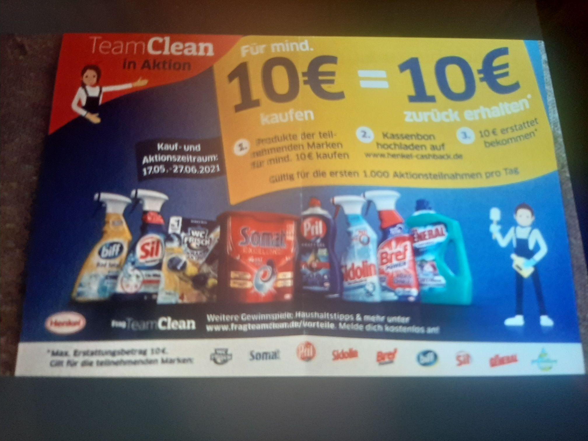 GZG Gratis Testen Henkel Gratis Aktion 10€ Kaufen und 10€ zurück.