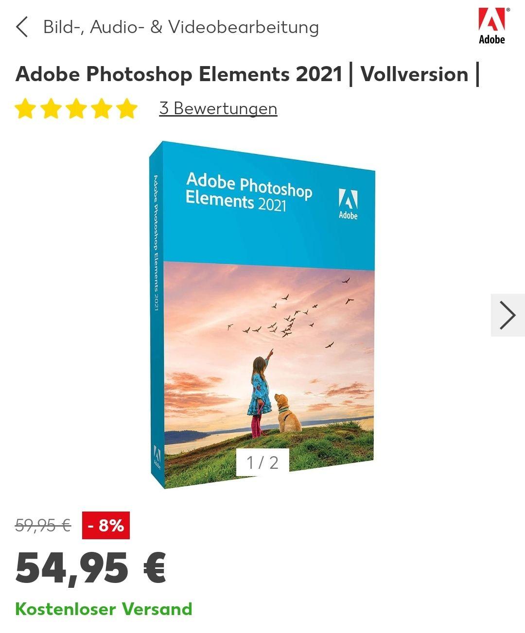 [Kaufland online] Adobe Photoshop Elements 2021 Retail
