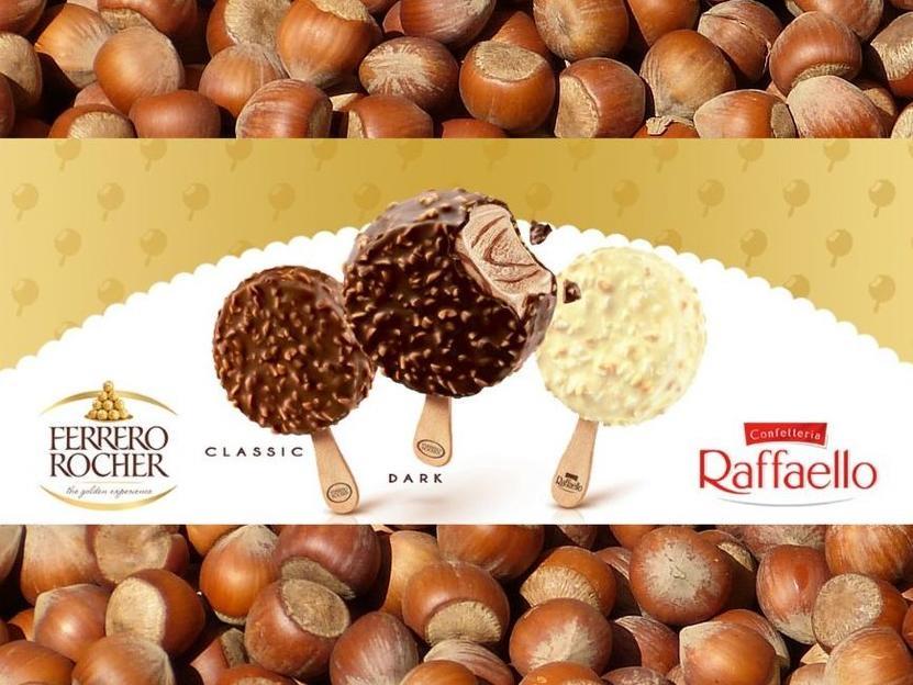 [Real] Ferrero Rocher und Raffaelo Eis 4x70ml für 2,79€