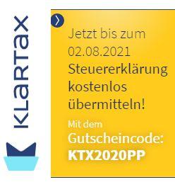 Steuererklärung 2020 kostenlos übermitteln - KLARTAX eine Marke der DATEV