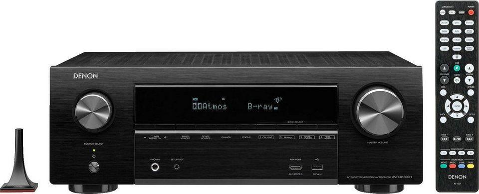 Denon AVR-X1600H 7.2 AV-Receiver (WLAN, Bluetooth, LAN) - sofort lieferbar