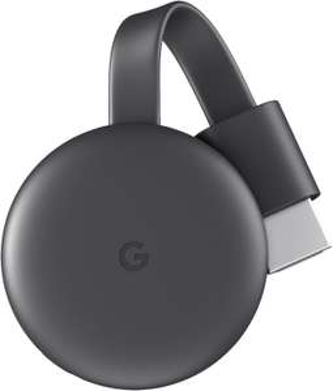 GOOGLE Chromecast Streaming Player, 3. Generation Streaming Player, Karbon [Saturn Abholung]