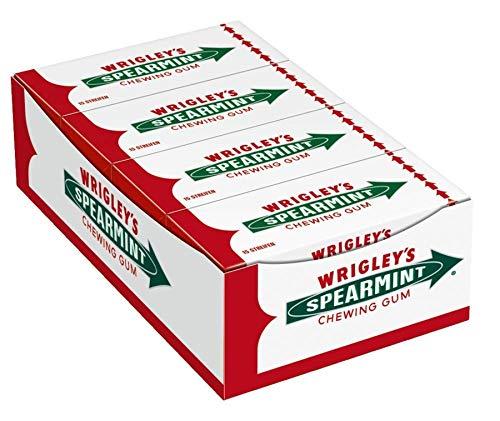 Wrigley's Spearmint Kaugummi | Minz-Geschmack | 8 Packungen (8 x 15 Streifen)