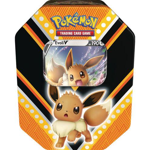 Pokémon, Tin 89 Evoli-V, 4 Boosterpacks   Pokemon
