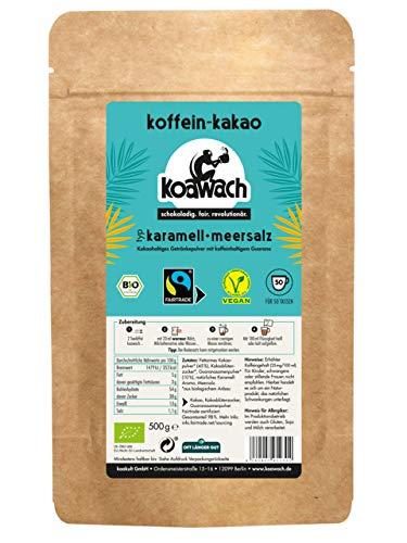 [Amazon] koawach Karamell + Meersalz Kakaopulver Trinkschokolade 500g Koffein Kakao Guarana
