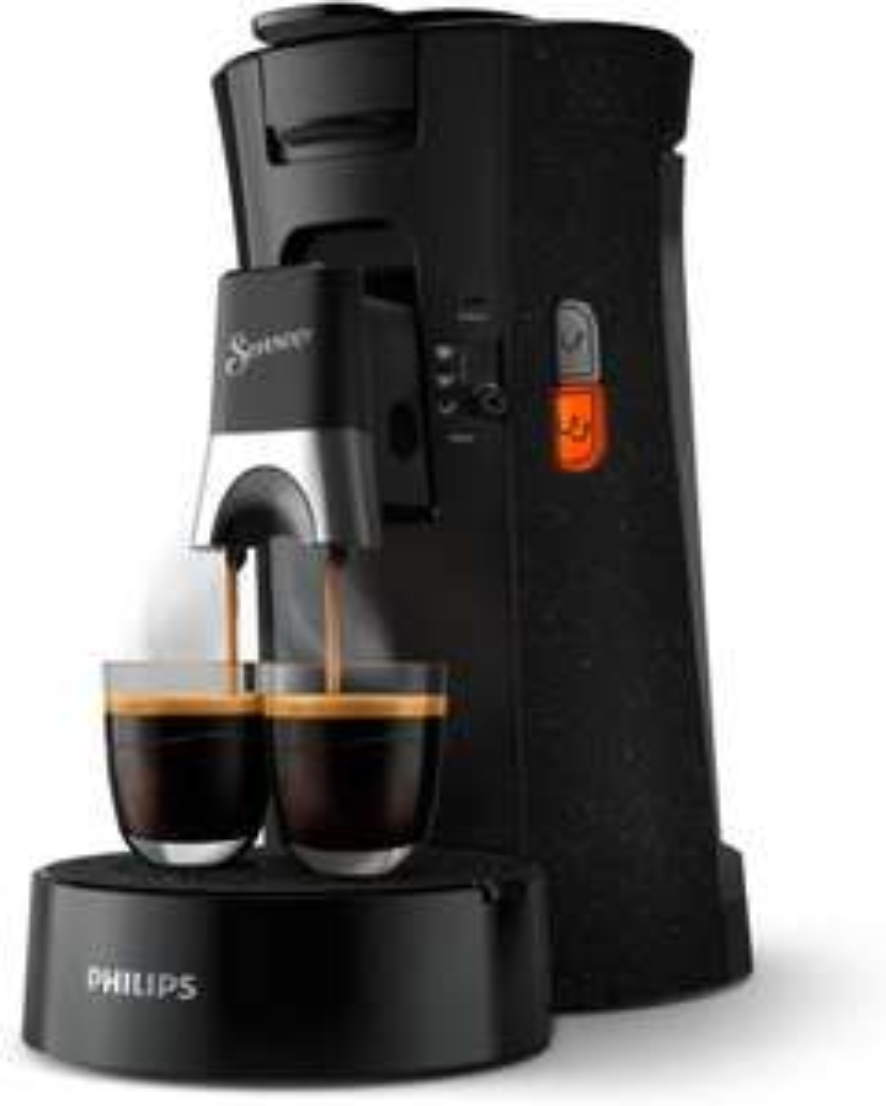 Philips Senseo Select ECO CSA240/20 Kaffeepadmaschine (Kaffeestärkewahl Plus, Memo-Funktion, aus recyceltem Plastik), schwarz/gesprenkelt