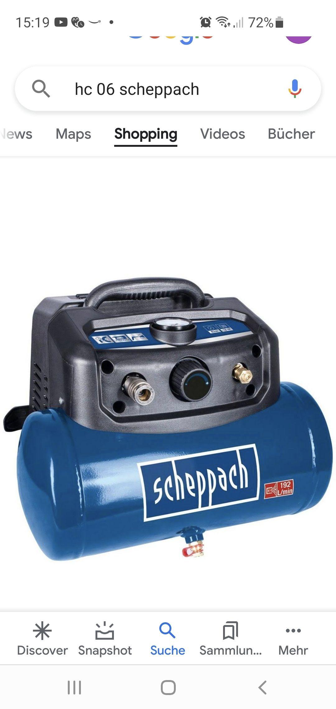 Scheppach HC06 ( PENNY Duderstadt ,bei der Feilenfabrik) Kompressor