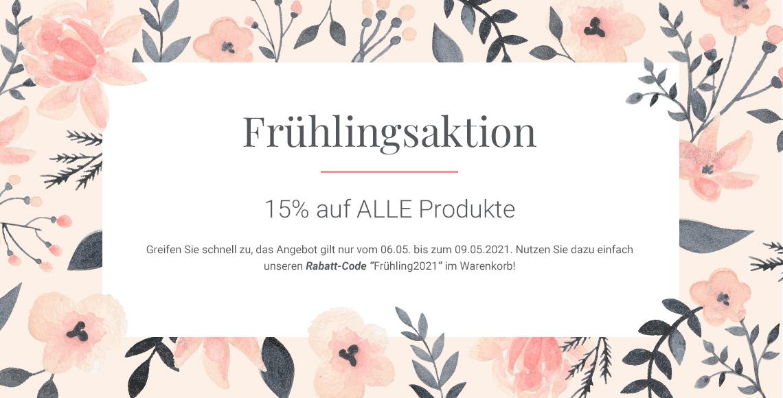 Frühlingsaktion bei Beautykaufhaus: 15% auf alle Produkte bis 09.Mai