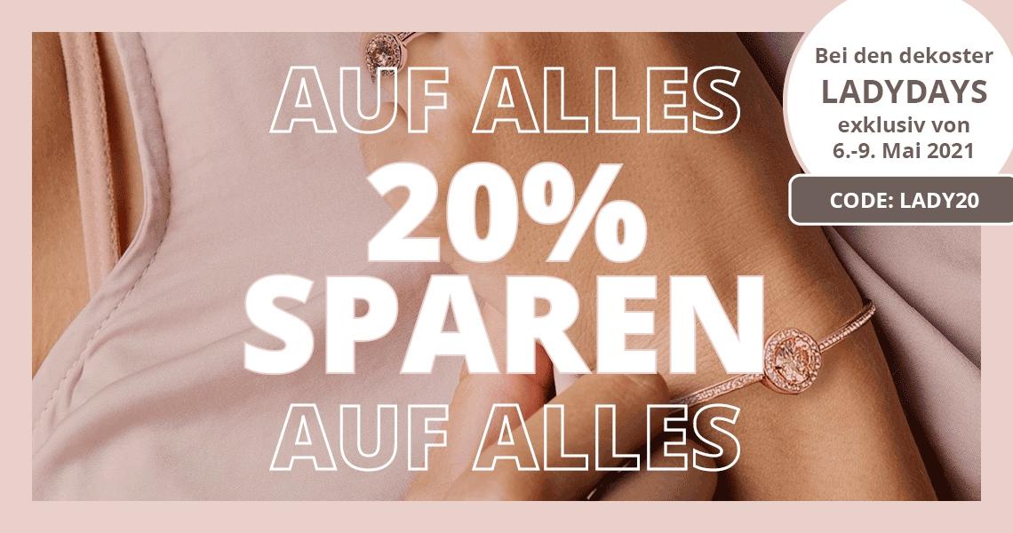 -20% auf Schmuck, Handtaschen und Uhren