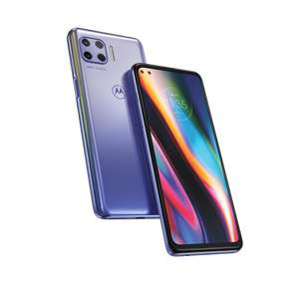 "(Inkl. gratis Blumenstrauß) MOTOROLA moto g 5G plus (6,7""-Display, 48-MP-Kamera, 6/128 GB, 5000 mAh, Dual-SIM, Android 10) Mystic Lilac"