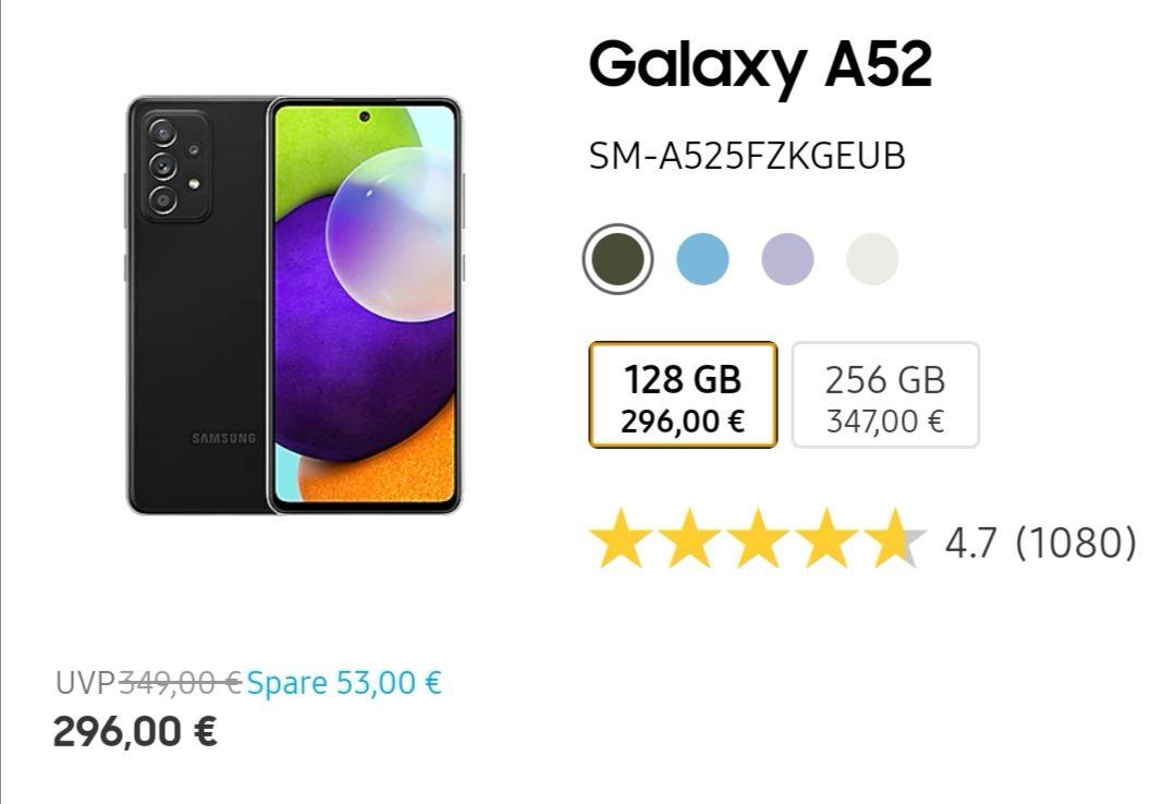 Samsung Galaxy A52 Exclusiv für Studenten!