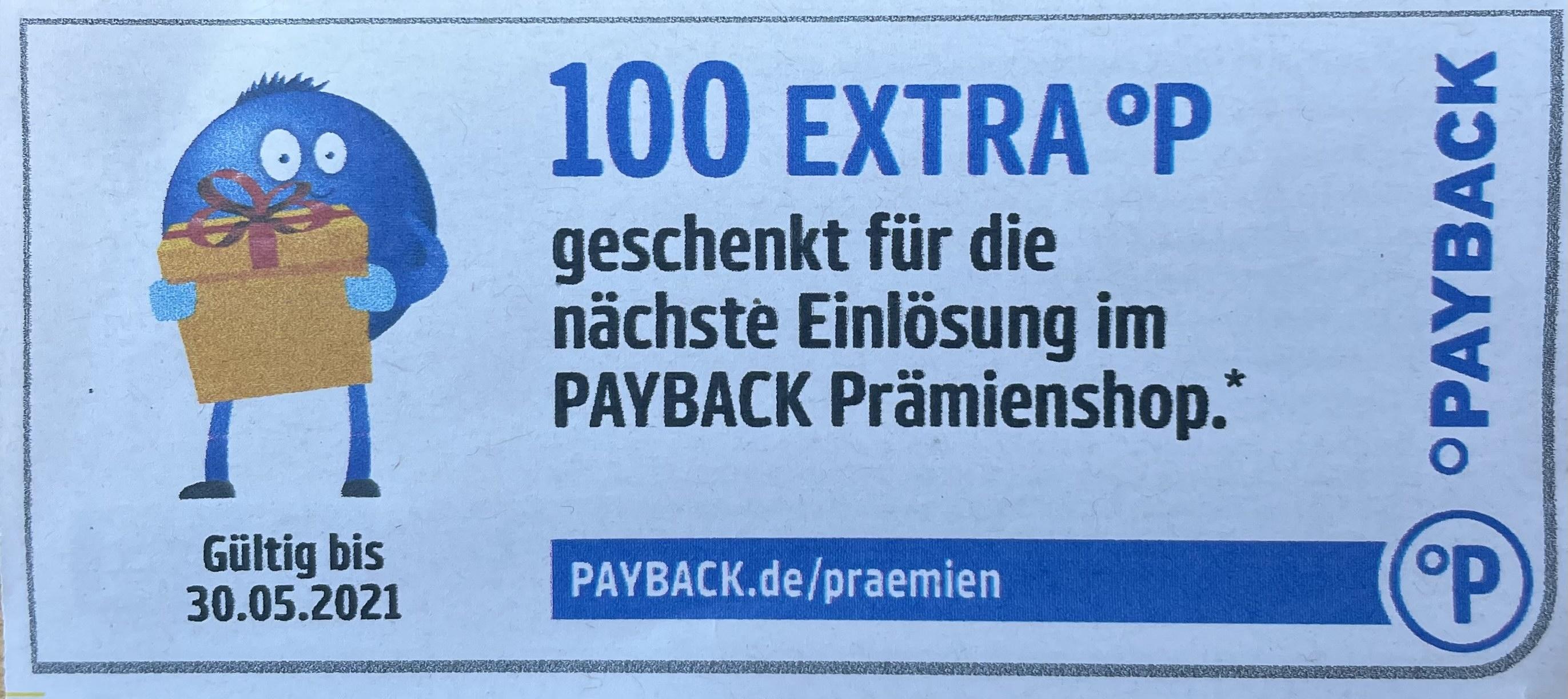 Payback - 100 Punkte auf eine 10€ Prämienbestellung