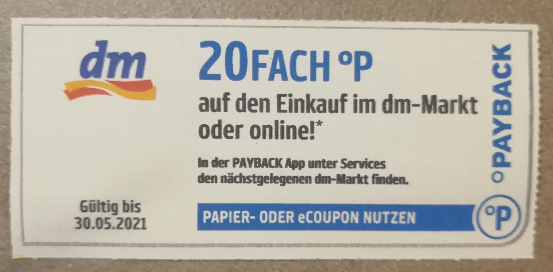 20 Fach Paybackpunkte bei dm
