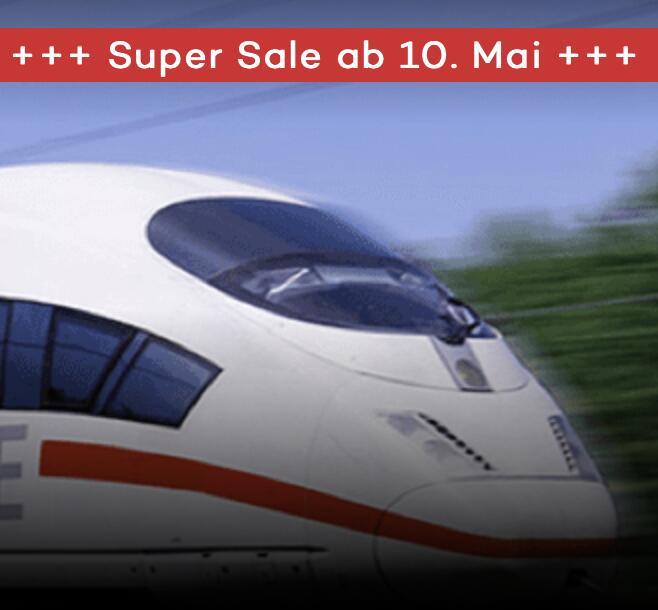 MyTrain Super Sale (2x Bahntickets für 39,90€)