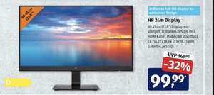 [Aldi Süd] HP 24m Monitor 24 Zoll Full-HD