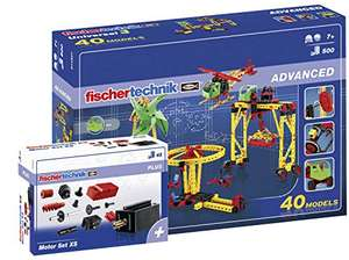 [Amazon] Fischertechnik - 516187 ADVANCED Universal 3 + Motor Set XS, Konstruktionsbaukasten