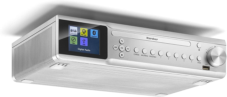 Karcher RA 2060D-S Unterbauradio (6W, DAB+, UKW, CD, Bluetooth, USB, MP3, Timer, Wecker, Netzbetrieb, inkl. Fernbedienung & Montagematerial)
