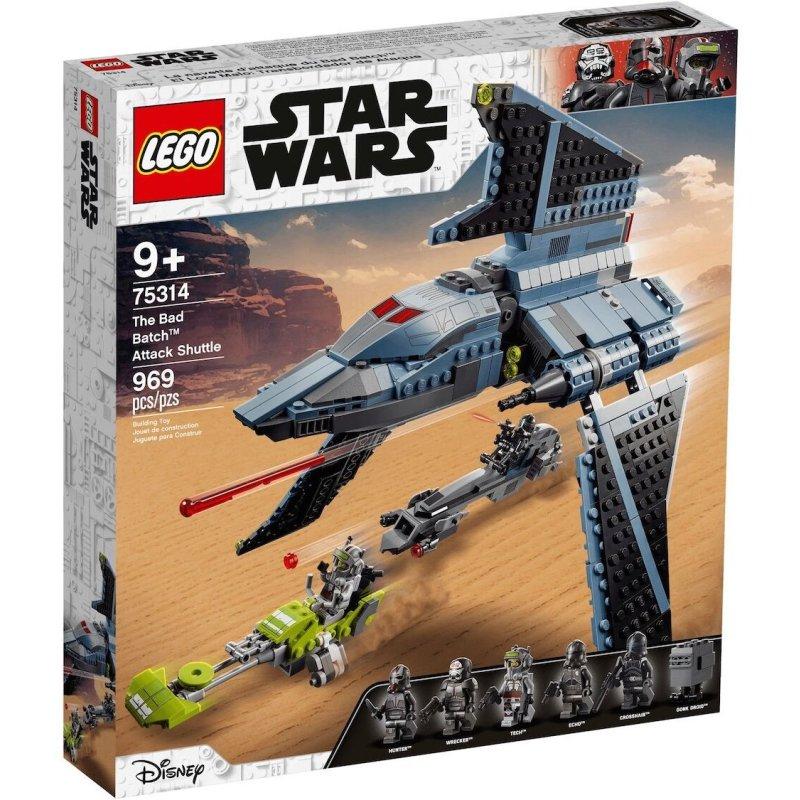 (Lucky Bricks) Lego Star Wars 75314 Angriffsshuttle aus der neuen Serie The Bad Batch