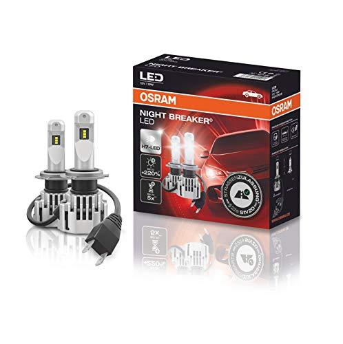 [Amazon Prime] Osram Night Breaker H7 LED bis zu 220 % mehr Helligkeit, erstes legales LED H7 Abblendlicht mit Straßenzulassung