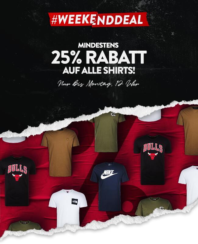 Mindestens 25% auf alle Shirts (Versandkostenfrei ab 40€)