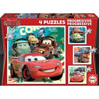 Educa, Disney Car 2 Puzzle, 4 Puzzles, 73 Teile