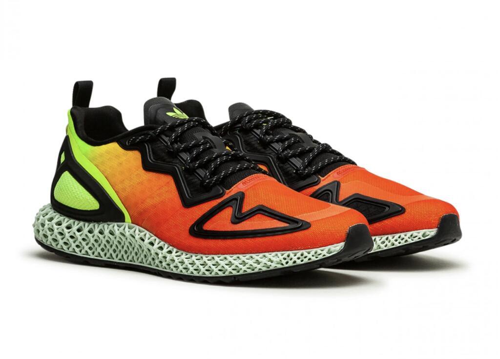 """Adidas ZX 2K 4D """"Solar Yellow"""" (Neongelb / Rot) im Angebot bei Allike / Größe 40-44"""