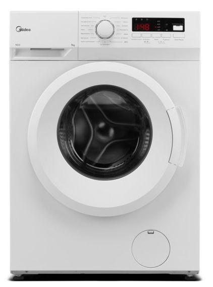 Midea MFNEW70-145 Waschmaschine (7kg, 1400U/min, EEK E, 78kWh/100, AquaStop, Display, Startzeitvorwahl, Trommelreinigung)