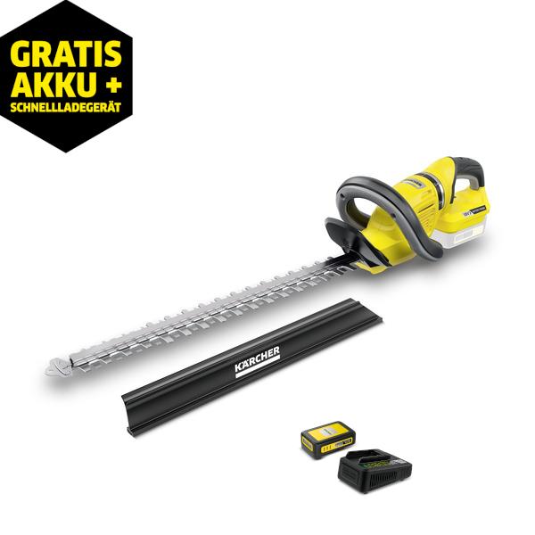 Kärcher Akku-Heckenschere HGE 18-50 Battery (inkl. 1 x 18V-Akku mit 2,5 Ah und 1 x Schnellladegerät)