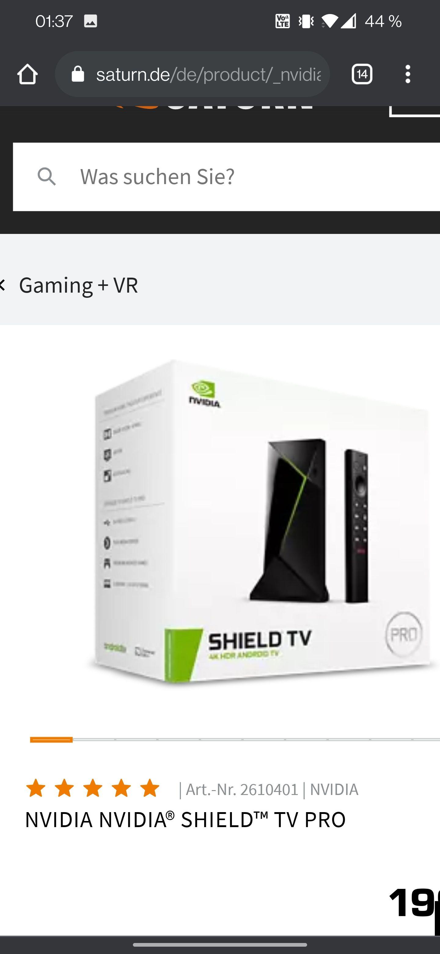 Nvidia Shield TV Pro minus 10€ Newsletter-Gutschein