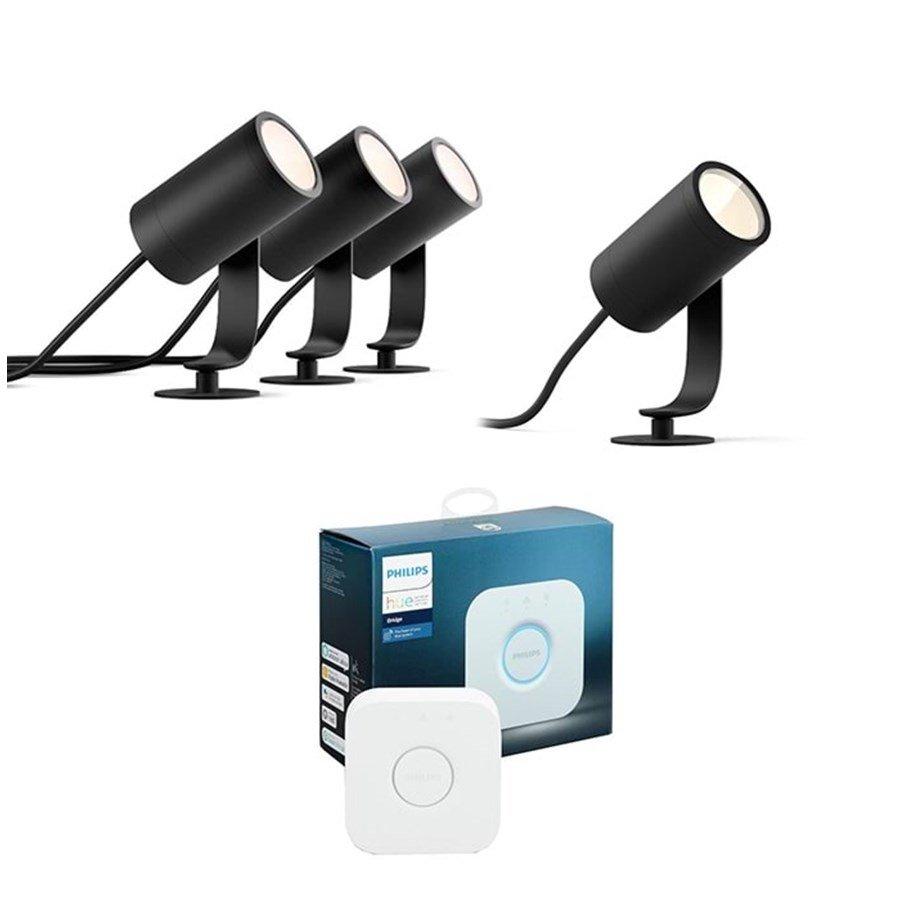 Philips Hue Outdoor Deals: z.B. 4x Lily Gartenspot + Bridge für 274,49€ | Discover, Impress, Resonate, Lily XL, Appear, LightStrip