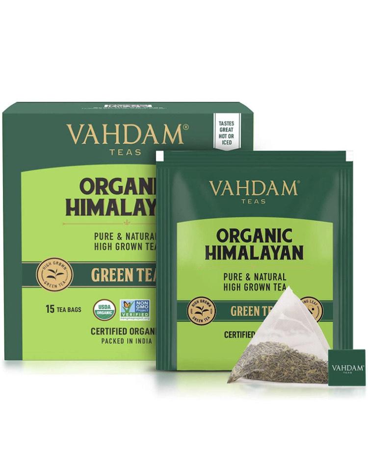 Grüner Tee BIO Blätter Von Himalaya (30 Teebeutel), 100% natürliche Entgiftung