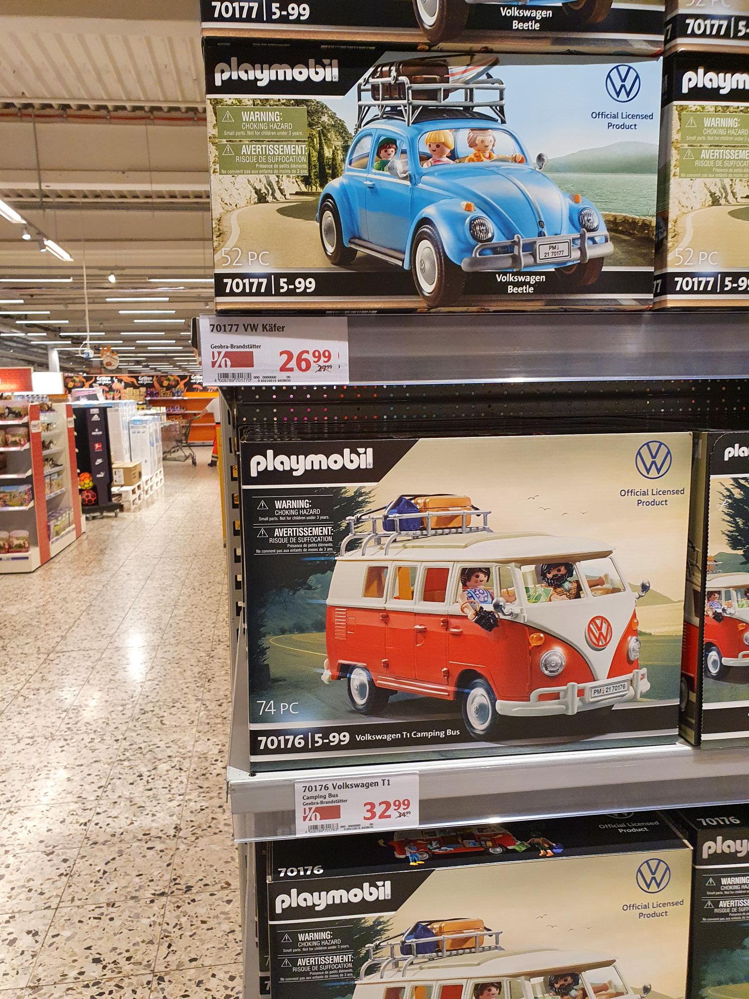 (Globus Hockenheim) Playmbobil 70177 (VW Käfer) 26.99 und 70167 (VW Bus) 32.99