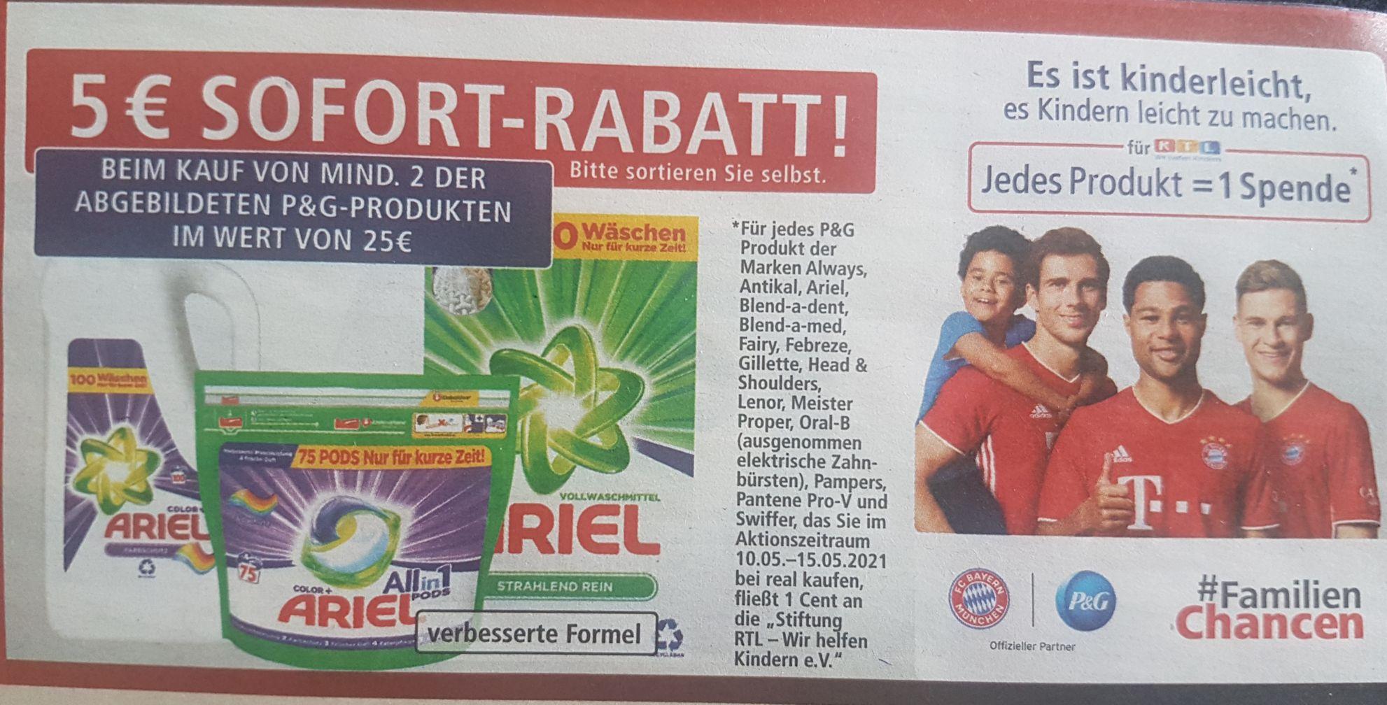 [REAL] 5€ Sofort-Rabatt auf Ariel-Produkte