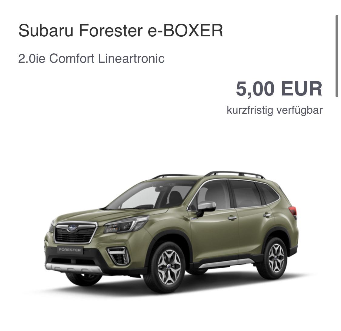 Subaru Forester - Neuwagen Autokauf Preisfehler