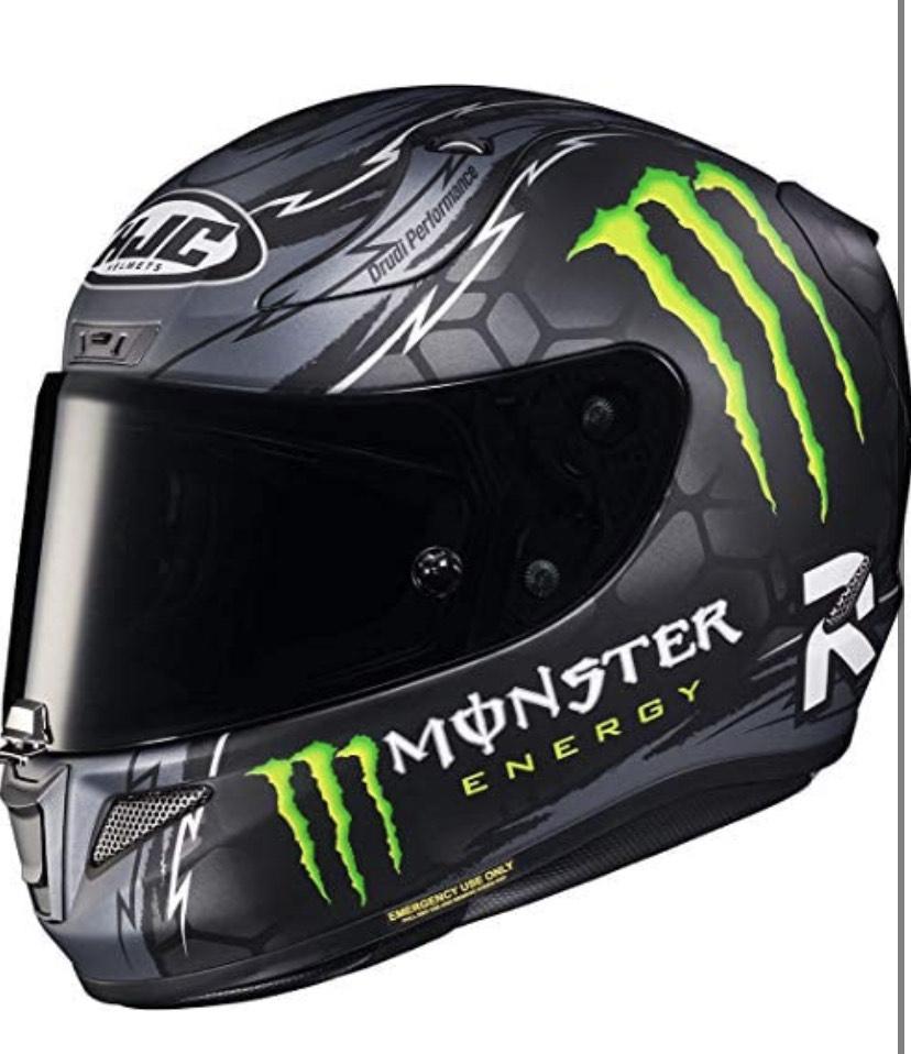 HJC Unisex-Adult Rpha11 Crutchlow Replica Black Motorrad Helm, MC5SF, Gr.S