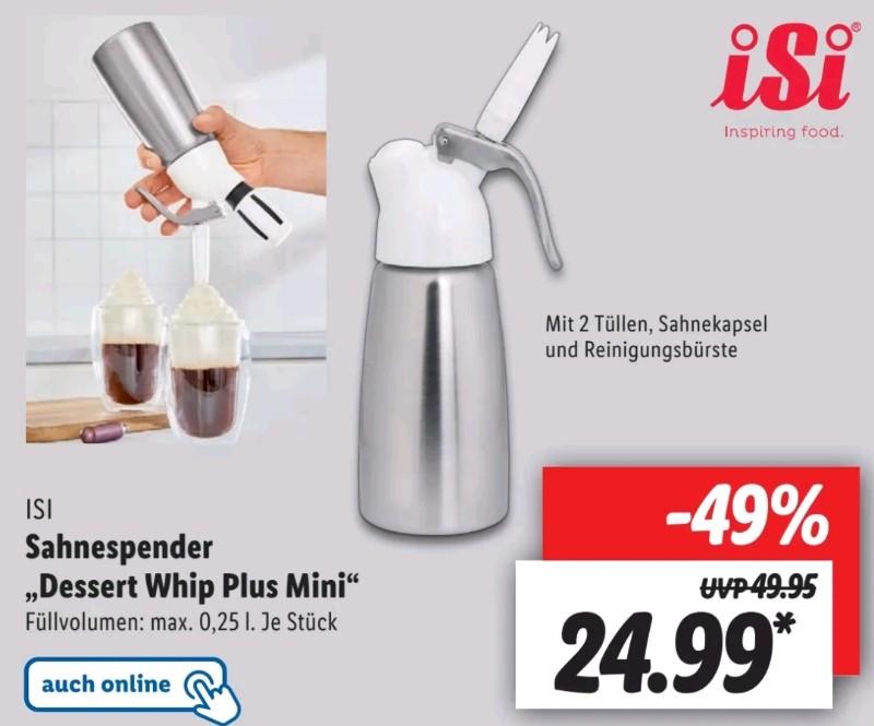 [Lidl lokal 17.05.] iSi Sahnespender Dessert Whip Plus Mini 250 ml