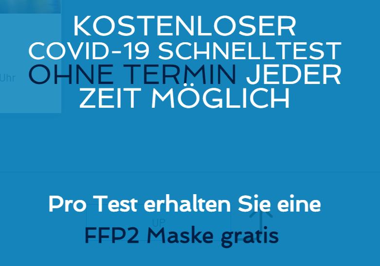 (Lokal Düsseldorf & Berlin) Gratis FFP2 Maske zum kostenlosen Corona Schnelltest