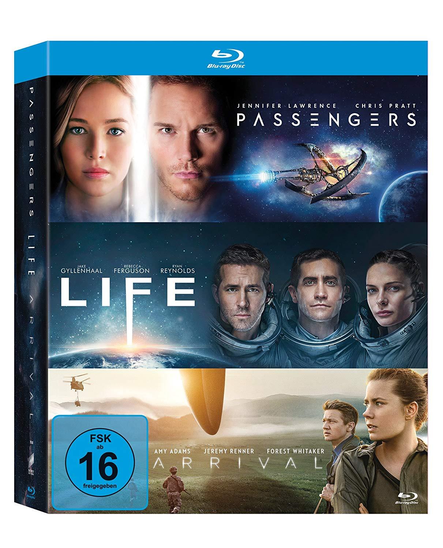 3x Blu-Ray: Arrival / Life / Passengers