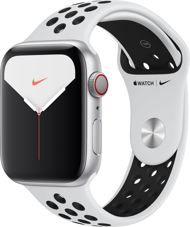 Apple Watch Nike Series 5 (LTE) 44mm Aluminium silber mit Sportarmband