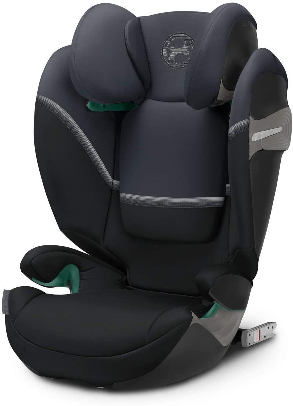 CYBEX Gold Kinder-Autositz Solution S i-Fix (für Autos mit & ohne ISOFIX, 100 - 150 cm, Ab ca. 3 bis ca. 12 Jahre) Granite Black