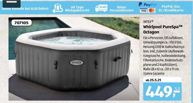 [Aldi Süd] INTEX Whirlpool PureSpa Octagon Pool