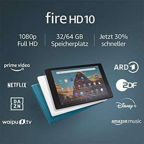 Amazon FireHD10-Tablet 2019 (10,1Zoll großes FullHD-Display (1080p), 32 GB, mit Werbung) [Amazon / MediaMark / Saturn]