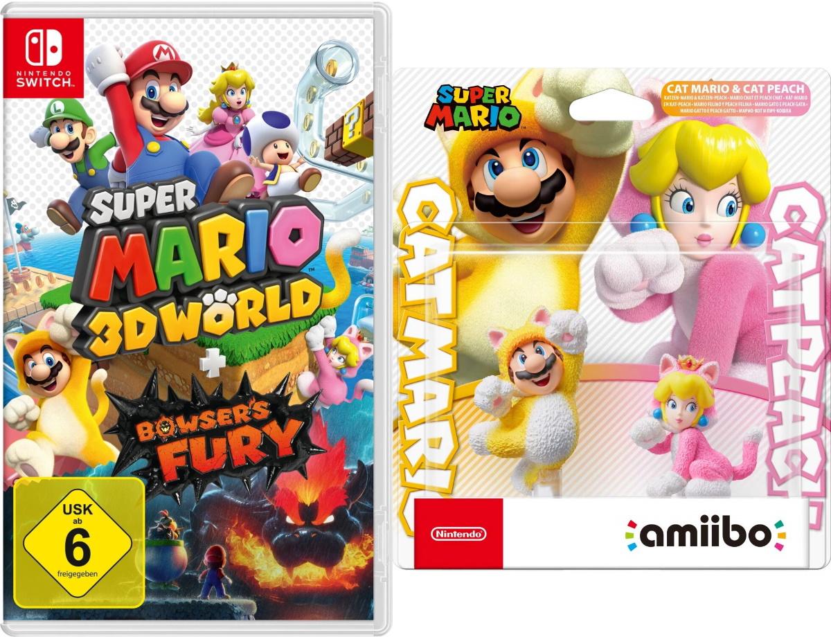 GDD Gaming: z.B. Super Mario 3D World [Switch] + Bowser's Fury + amiibo Katzen-Mario & Katzen-Peach   NBA 2K21, Civilization, FIFA 21, Mafia